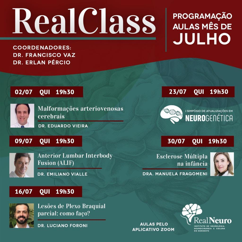 RealClass – Mês de Julho
